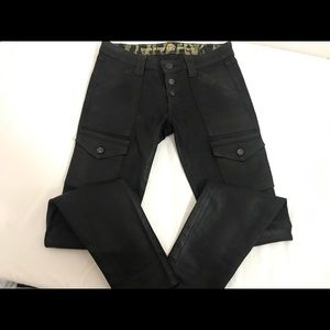 Rich & skinny waxed jeans